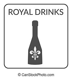 Royal Drinks ign - Cover page design for the wine list on...