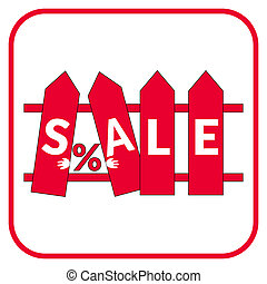 sale fence sign