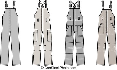 Overalls - Vector illustration of overalls