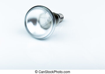 Close up of a halogen light bulb