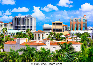Downtown Sarasota, Florida - Sarasota, Florida, USA downtown...