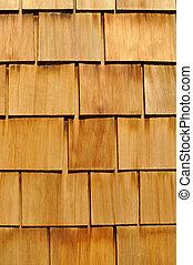 Wood Shingle Background - Wood Textured Shingle Background