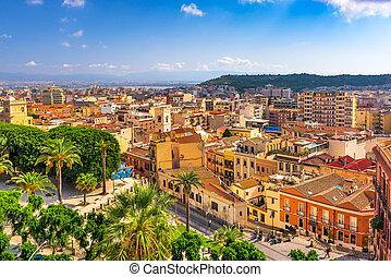 Cagliari, Italy Cityscape - Cagliari, Sardinia, Italy...