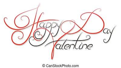 Happy Valentine Day calligraphic text