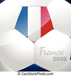 Soccer ball with france flag - Soccer ball poster design...