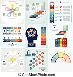 Timeline Infographic 9 templates five position -...