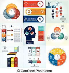Infographics cyclic processes three positions - Infographics...