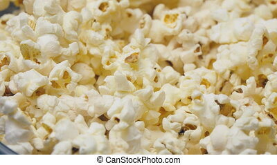 Popcorn In Rotation - Macro footage of popcorn In Rotation