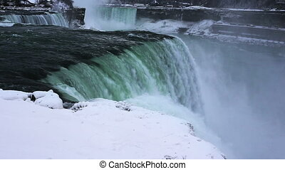 Niagara falls winter color enhanced - Time lapse Niagara...