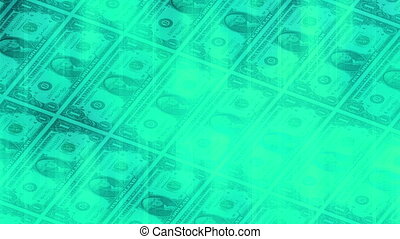 Money blue abstract loop - Money Blue Green Abstract loop