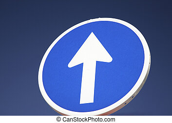 One-Way Road Sign