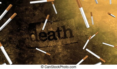 Smoking death color option two - Smoking death non looping...