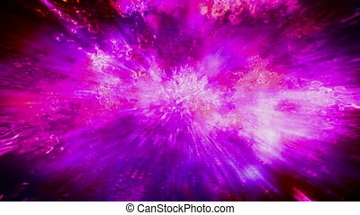 Abstract cosmic magenta flare loop