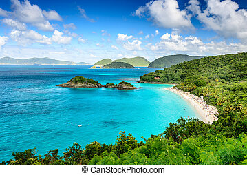 St John USVI - Trunk Bay, St John, United States Virgin...