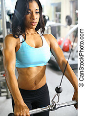 African American Fitness Woman - african american woman...