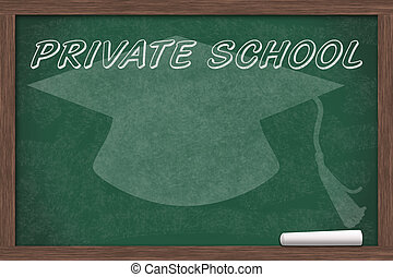 Going to Private School, Private School written on a...