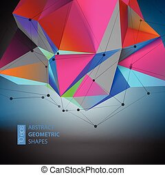 Abstract Geometric backgrounds full Color Vector...