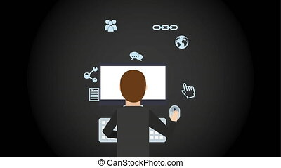 Businessman icon design Video Animation HD1080