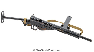 Great Britain at the WW2 British submachine gun Sten - a...