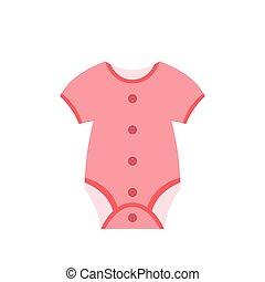 Baby clothing flat icon