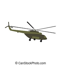 Helicopter flat icon isolated on white background