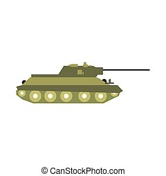Tank flat icon isolated on white background