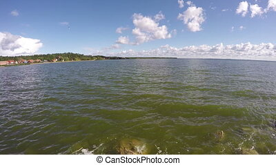Curonian lagoon shore, time lapse - Curonian lagoon...