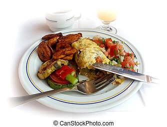 Ready to eat breakfast - Ready to eat breakfast omelet with...