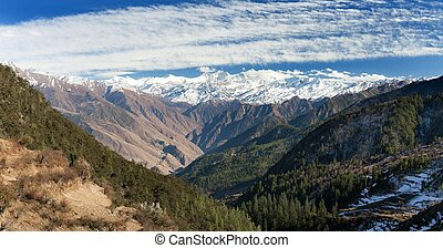 Lower Dolpo and Dhaulagiri himal - Lower Dolpo - landscape...