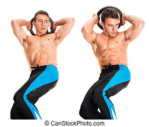Weighted Crunch Exercise - Weighted crunch exercise Studio...