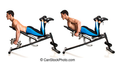 Dumbbell Incline Row Studio composite over white