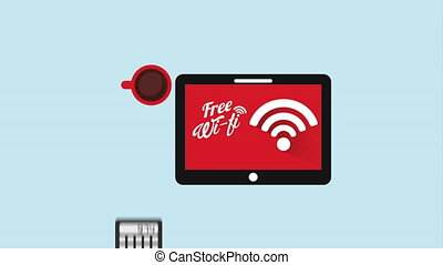 Free wifi design, Video Animation HD1080