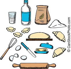 Cooking process of kneading dough