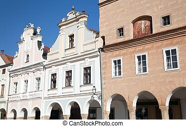 Telc town square with renaissance houses - View from Telc...