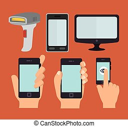 smartphone technology design, vector illustration eps10...