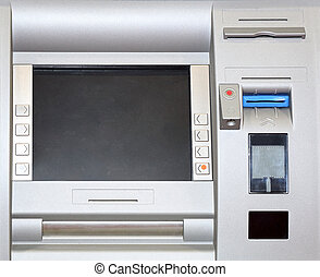 Contactless ATM - Automatd Teller Machine With Chip and...