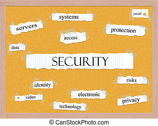 Security Corkboard Word Concept with great terms such as...
