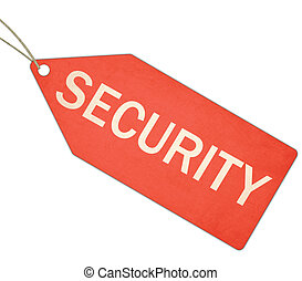 Security Red tag with string
