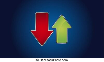 arrows in different directions, Video Animation HD1080