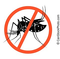 Prohibition sign for stop Mosquito