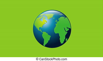 globalization icon design, Video Animation HD1080