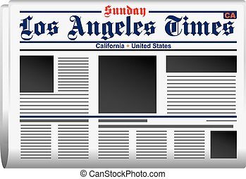 Newspaper Los Angeles Times California United States