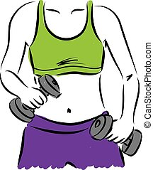 fitness woman illustr