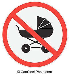no baby carriage - No, baby, carriage, sign