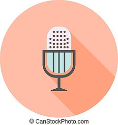 Mic, speech, sound icon vector image Can also be used for...