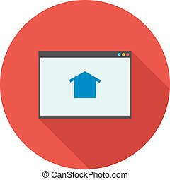 Homepage - Google, homepage, connection icon vector imageCan...