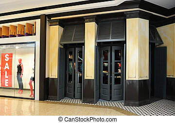 Clothing Store Front - The front of a mall clothing store,...