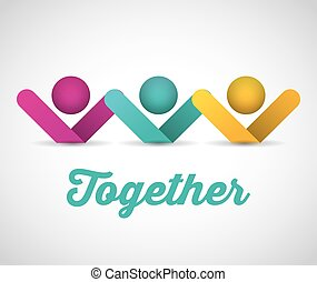 together concept design, vector illustration eps10 graphic
