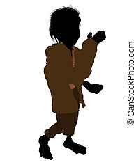 Dwarf Silhouette Illustration