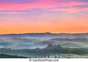 Tuscany at sunrise